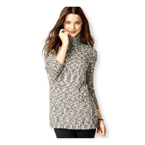 American Living Womens Marled Pullover Sweater, Black, XX-Large