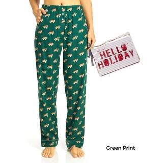 Jane & Bleeker Women's Packaged Flannel Printed Pajama Pants