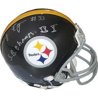 Frenchy Fuqua signed Pittsburgh Steelers Riddell TB Mini Helmet SB Champs IX X silver siginsc on ba