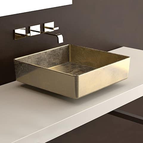 WS Bath Collections Four Lux Four Vessel Bathroom Sink