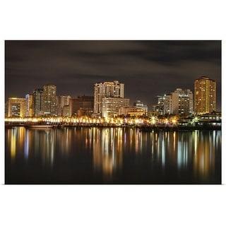 """""""Manila Bay at night"""" Poster Print"""