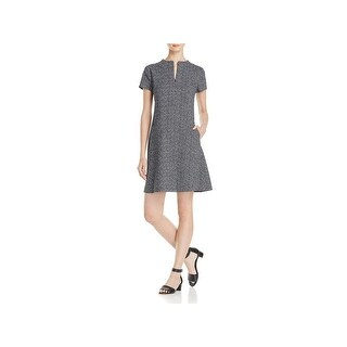 Theory Womens Apalia Casual Dress Tweed Printed