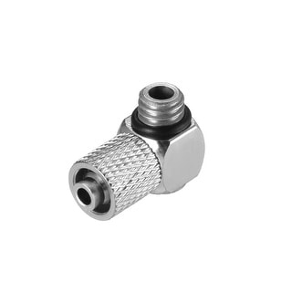 "Elbow Quick Coupler 3/16"" OD x M6 Thread Air Hose Quick Coupler Connector"