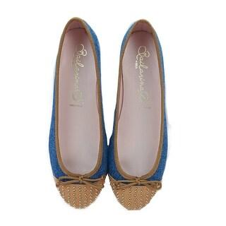 Bailarinas EDEL CJTT Denim/Tan Studded Ballerina Shoes