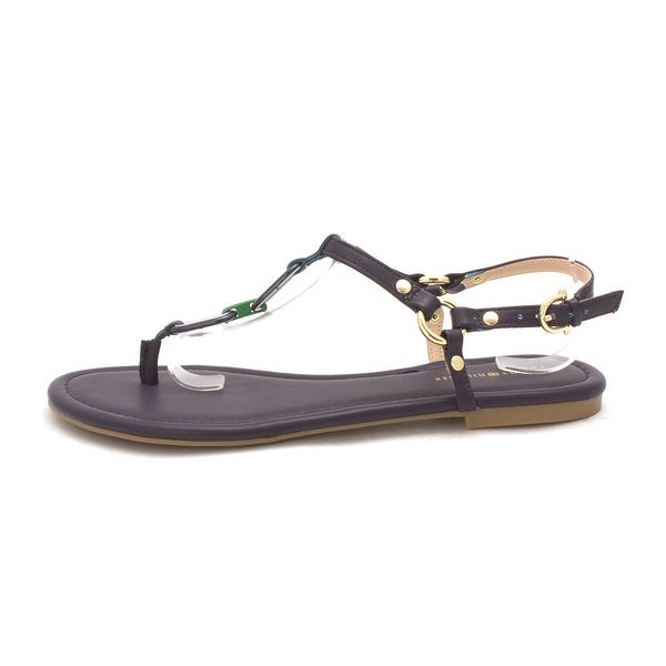 69afc13ad972 Shop Tommy Hilfiger Womens SHELLEY Leather Open Toe Casual T-Strap ...