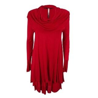 Kensie Women's Long-Sleeve Cowl Neck Layered Dress - s