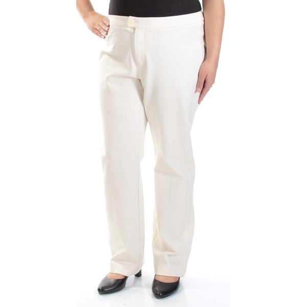 5cdd17629 Shop Womens Ivory Wear To Work Straight leg Pants Size 16 - Free Shipping  On Orders Over $45 - Overstock - 21591860