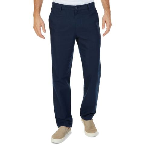Nautica Blue Navy Mens Size 33X30 Classic Fit Flat Front Pants