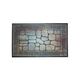 "J&M Home Fashions 10447 Floor Mat Flocked Stones, 23"" x 35"""