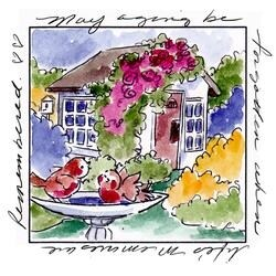 """Memories Window - Art Impressions Windows To The World Cling Stamp 4""""X5.25"""""""