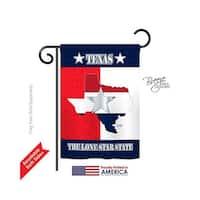 States Texas Lone Star State 2-Sided Impression Garden Flag - 13 x