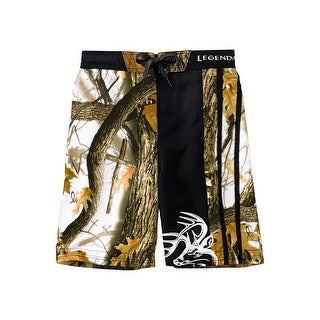 Legendary Whitetails Boys God's Country Camo Lakeside Swim Trunks