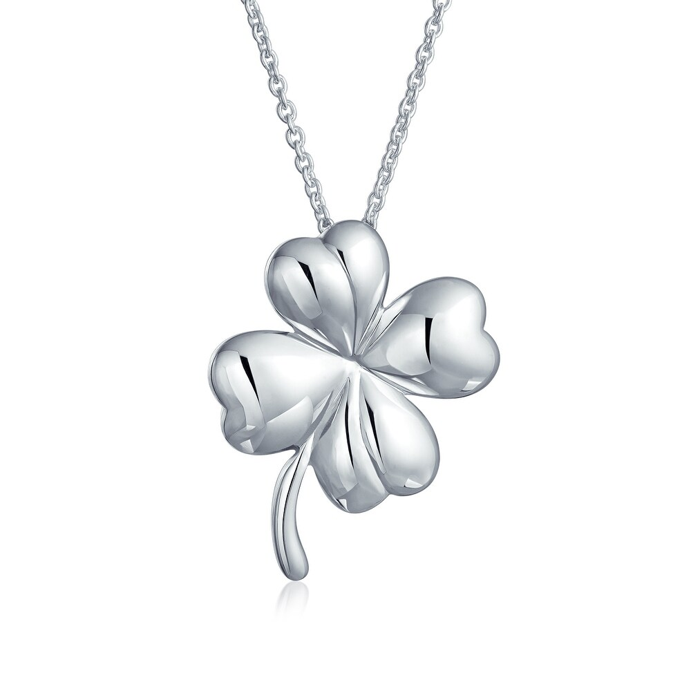 Sterling Silver Womens 1mm Box Chain 3D Fleur De Leaf Pendant Necklace Filligree Design
