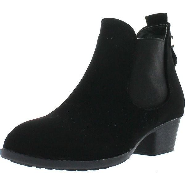 Top Moda Cl-5 Women's Round Toe Chunky Heal Chelsea Boots - Black