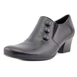 Ara Orissa Women Square Toe Leather Black Bootie