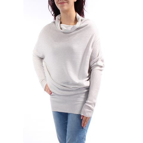 KIIND OF Womens Gray Long Sleeve Cowl Neck Sweater Size: M