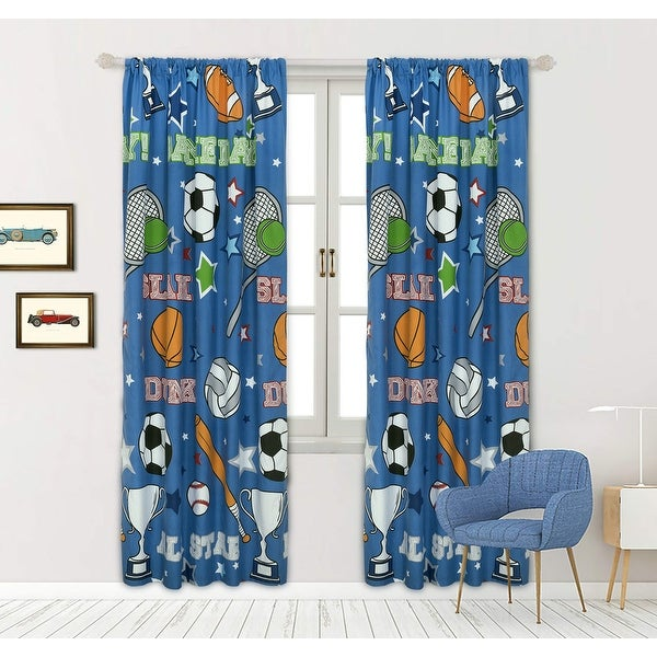 """Game Day Window Panel Pair - 48"""" x 84"""". Opens flyout."""