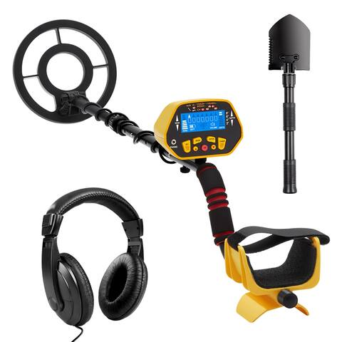 URCERI GC-1028 Metal Detector High Accuracy Waterproof 2 Modes Outdoor Gold Digger with Sensitive Search Coil LCD Display