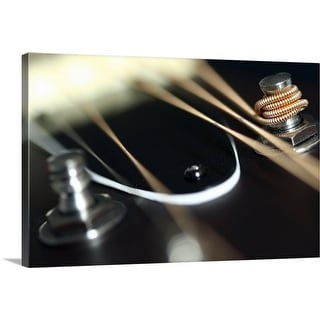 """""""Acoustic guitar neck with tuner and strings."""" Canvas Wall Art"""