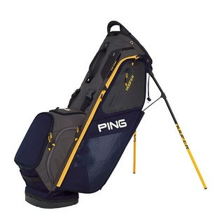 New Ping 2018 Hoofer Golf Stand Bag (Navy / Graphite / Yellow) - navy / graphite / yellow