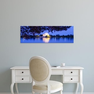 Easy Art Prints Panoramic Images's 'Jefferson Memorial, Washington DC, District Of Columbia, USA' Premium Canvas Art