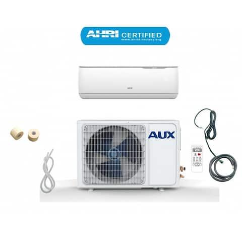 AUX 24000 BTU MINI Split Ductless Air Conditioner 230V 12Ft White