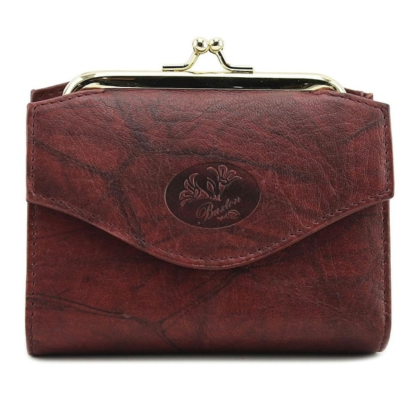 Buxton Heiress French Purse Wallet Women Leather Burgundy Wallet