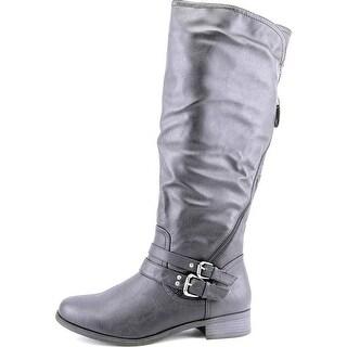 XOXO Womens Martin Closed Toe Knee High Riding Boots