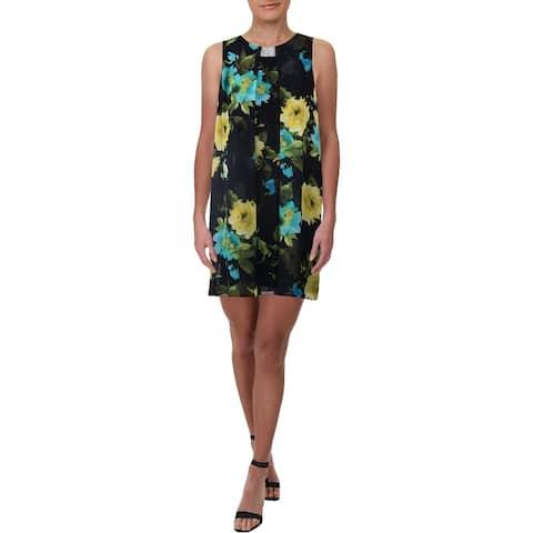 MSK Womens Cocktail Dress Floral Daytime - Navy - 12