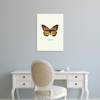 Easy Art Prints GraphINC's 'Yellow Butterfly' Premium Canvas Art
