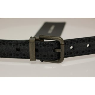 Dolce & Gabbana Blue Leather Logo Belt - 95-cm-38-inches