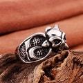 Vienna Jewelry Mini Stainless Steel Skull Ring - Thumbnail 1