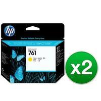 HP 761 Yellow DesignJet Printhead (CH645A)(2-Pack)
