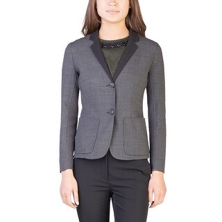 Prada Women's Virgin Wool Ribbed Jacket Grey - 4