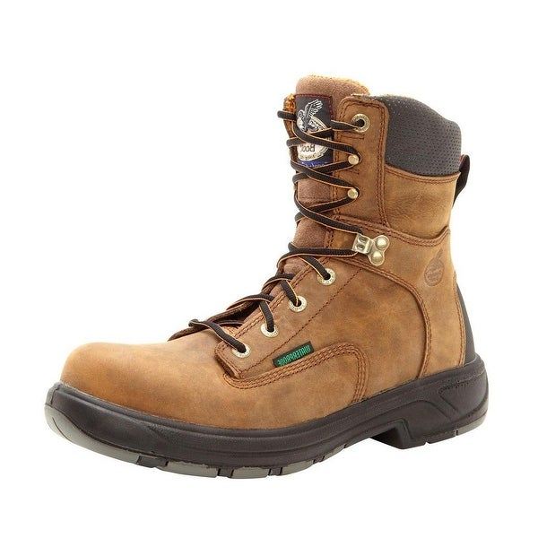 "Georgia Boot Work Men 8"" Waterproof Comp Toe Flexpoint Brown"