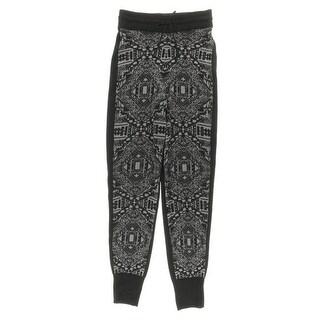 Material Girl Womens Juniors Metallic Pattern Jogger Pants