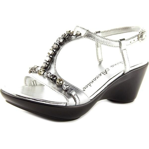 Athena Alexander Sambuca Women Open Toe Synthetic Silver Platform Heel