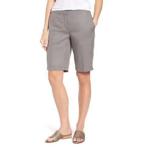 Eileen Fisher Mid Rise Walking Shorts, Smoke, XXS