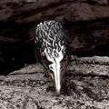 Vienna Jewelry The Falcon's Beak Stainless Steel Ring - Thumbnail 2