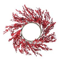 "28"" Festive Red Berries Artificial Christmas Wreath – Unlit - brown"