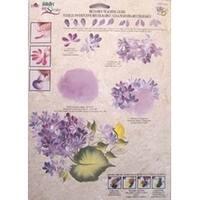 1165 Lilacs, Folk Art, One Stroke, Reusable Teaching Guide