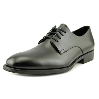 Calvin Klein Dorrel Men Round Toe Leather Black Oxford