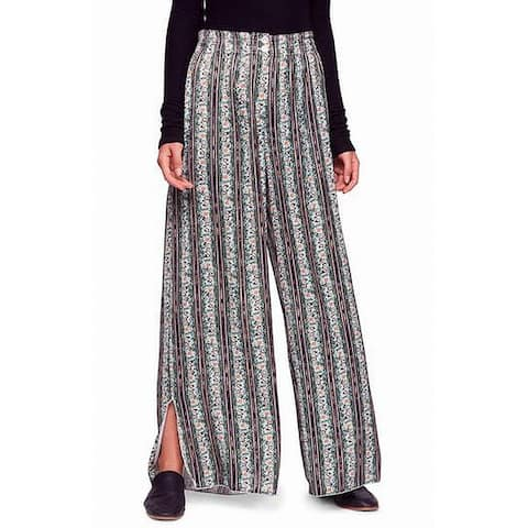 Free People Women's Pants Blue Size Large L Take Your Tie Off Stretch
