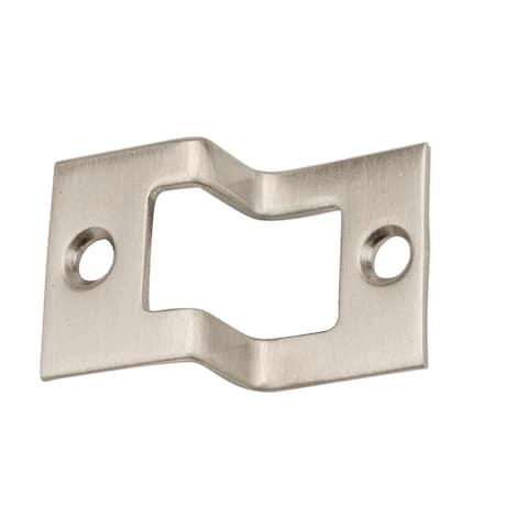 Baldwin 0603 Solid Brass Rabbeted Strike for use with Baldwin Flush - Satin Nickel