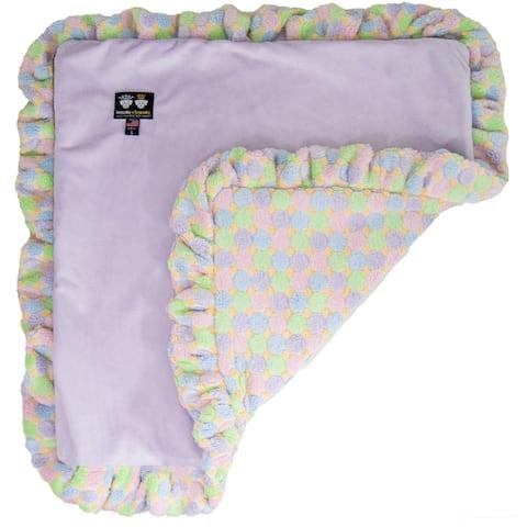 Bessie and Barnie Ultra Plush Lilac / Ice Cream Luxury Shag Dog/ Pet Blanket