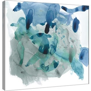"PTM Images 9-100932  PTM Canvas Collection 12"" x 12"" - ""Amorphous J"" Giclee Abstract Art Print on Canvas"