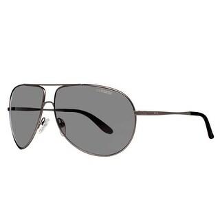 CARRERA Aviator New Gipsy/S Unisex R80/T4 Matte Ruthenium Gray Mirror Sunglasses - 64mm-11mm-125mm