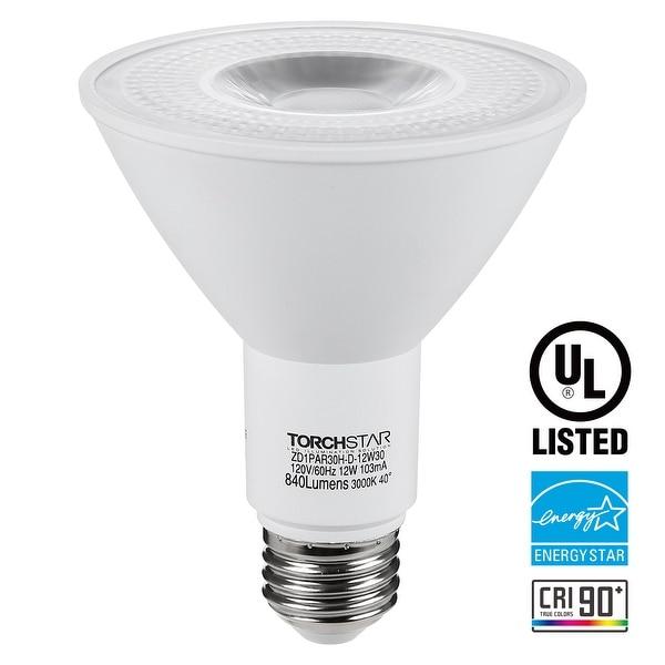 shop dimmable led par30 light bulb 12w 75w equiv spotlight