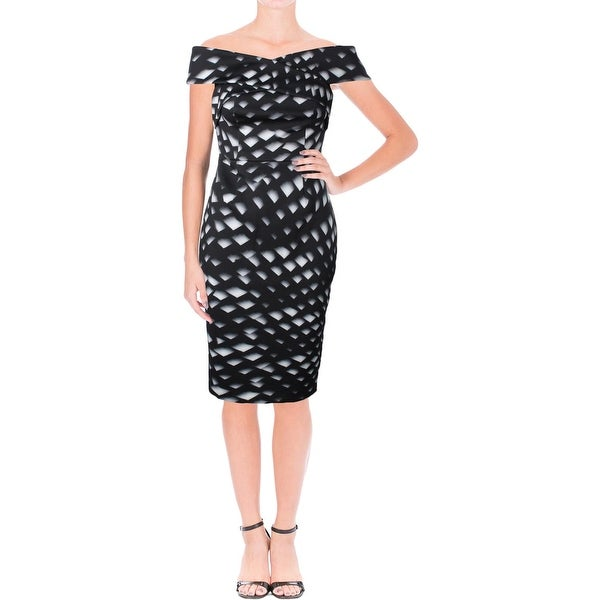 Keepsake Womens Sweetest Thing Cocktail Dress Printed Off The Shoulders