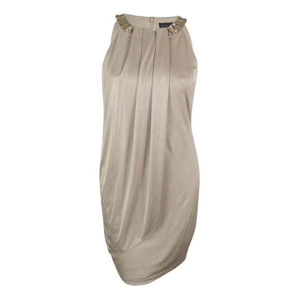 Jessica Howard Women's Sleeveless Embellished Dress - champagne - 14